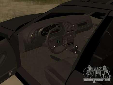 BMW 320i E36 para la visión correcta GTA San Andreas