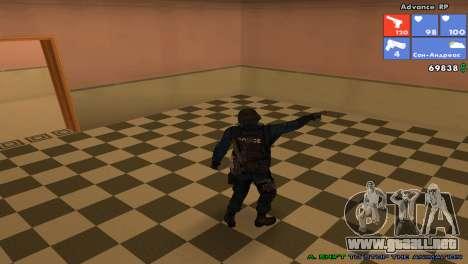 SWAT de piel para GTA San Andreas quinta pantalla
