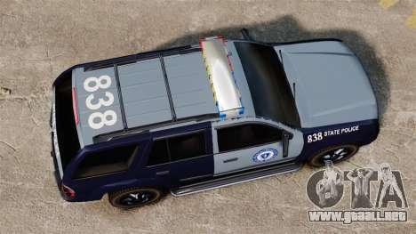 Chevrolet Trailblazer 2002 Massachusetts Police para GTA 4 visión correcta