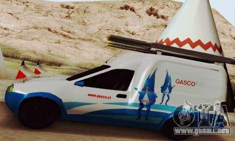 Chevrolet Combo Gasco para GTA San Andreas vista hacia atrás