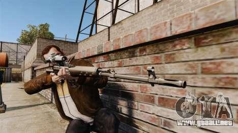 Dragunov sniper rifle v2 para GTA 4 tercera pantalla