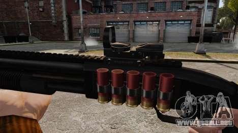Escopeta táctica v2 para GTA 4 adelante de pantalla