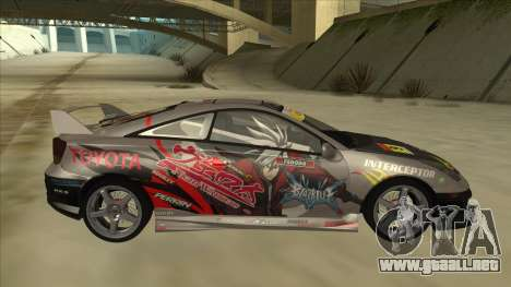 Toyota Celica ZZT231 Itasha para GTA San Andreas vista posterior izquierda