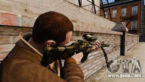 HK G3SG1 sniper rifle v2 para GTA 4 segundos de pantalla