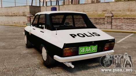 Renault 12 Classic 1980 Turkish Police para GTA 4 Vista posterior izquierda