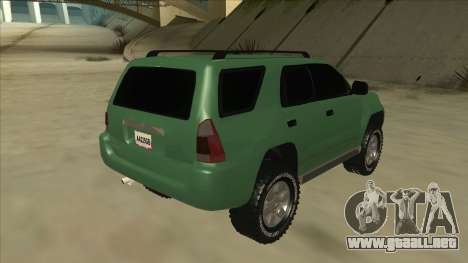 Toyota 4Runner 2009 v2 para la visión correcta GTA San Andreas