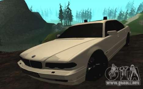 BMW 750iL E38 con luces intermitentes para GTA San Andreas