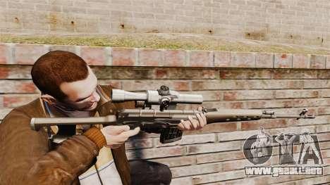 Dragunov sniper rifle v2 para GTA 4