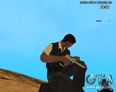 White Chrome Desert Eagle para GTA San Andreas