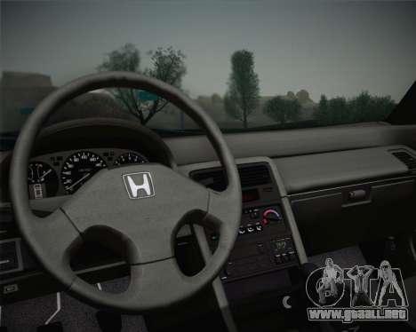 Honda CR-X 1991 para GTA San Andreas vista hacia atrás