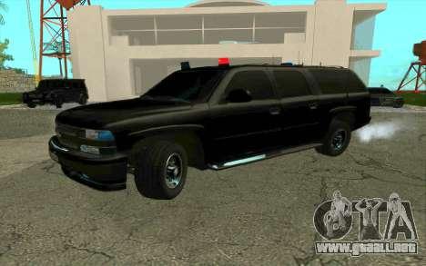 Chevrolet Suburban para visión interna GTA San Andreas