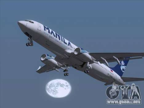 Boeing 737-800 Spirit of Manila Airlines para GTA San Andreas interior