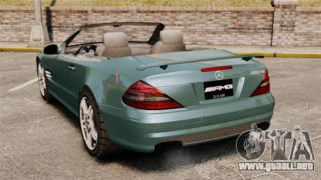 Mercedes-Benz SL65 2007 AMG v1.2 para GTA 4 Vista posterior izquierda