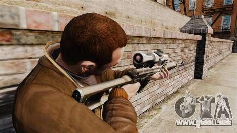 Dragunov sniper rifle v2 para GTA 4 segundos de pantalla