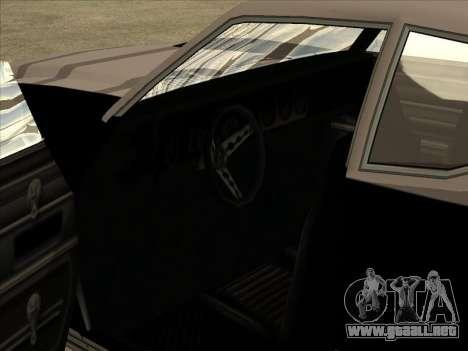 Remington para GTA San Andreas vista hacia atrás