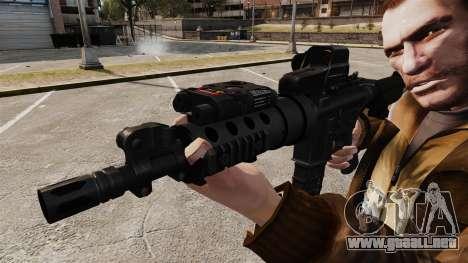 V3 M4 Tactical para GTA 4 adelante de pantalla