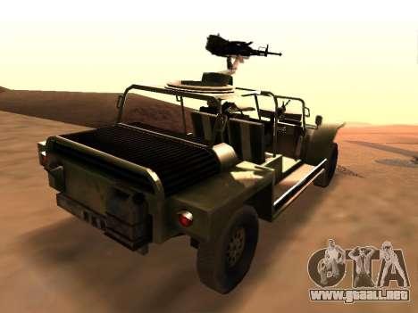 FAV de Battlefield 2 para GTA San Andreas vista posterior izquierda