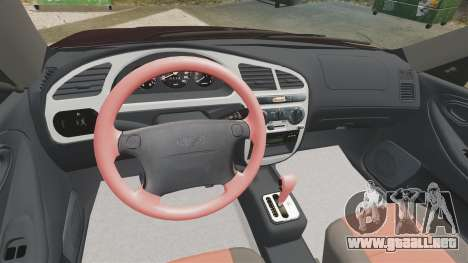 Daewoo Lanos Sport US 2001 para GTA 4 vista superior