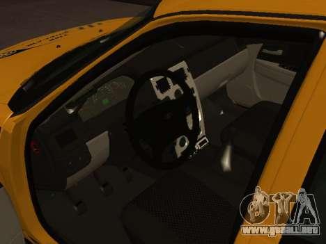 LADA Priora 2170 Taxi para GTA San Andreas vista posterior izquierda
