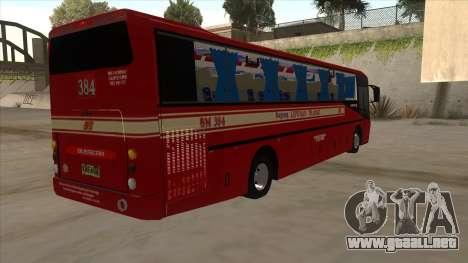 Bagong Lipunan Transit BM 384 para la visión correcta GTA San Andreas