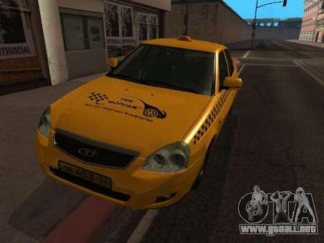 LADA Priora 2170 Taxi para GTA San Andreas