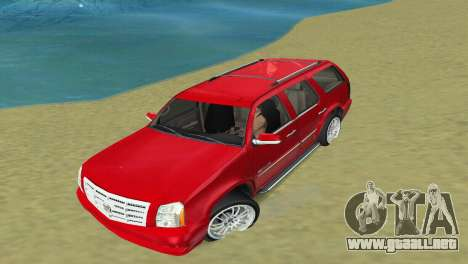 Cadillac Escalade para GTA Vice City vista lateral izquierdo