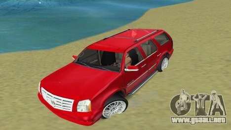 Cadillac Escalade para GTA Vice City vista lateral izquierdo