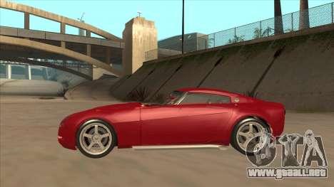Melling Hellcat Custom para GTA San Andreas vista posterior izquierda