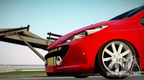 Peugeot 207 para la visión correcta GTA San Andreas