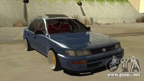 Toyota Corolla 1.6 1997 Hellaflush para GTA San Andreas left