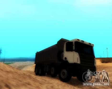 Scania P420 8X4 Dump Truck para GTA San Andreas vista posterior izquierda