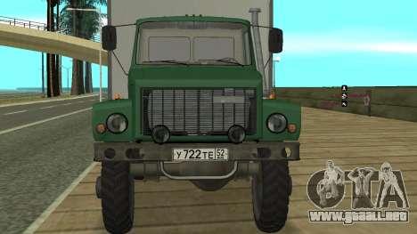Avtolaboratoriâ GAZ 3309 Sadko para la visión correcta GTA San Andreas