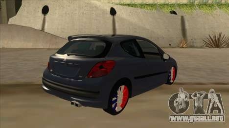 Peugeot 207 RC para la visión correcta GTA San Andreas