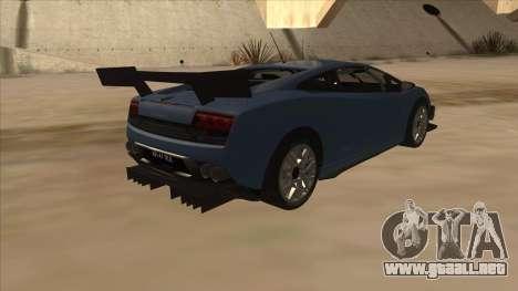 Lamborghini Gallardo LP560-4 Tuned para la visión correcta GTA San Andreas