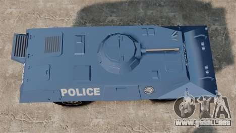 S.W.A.T. Police Van para GTA 4 visión correcta