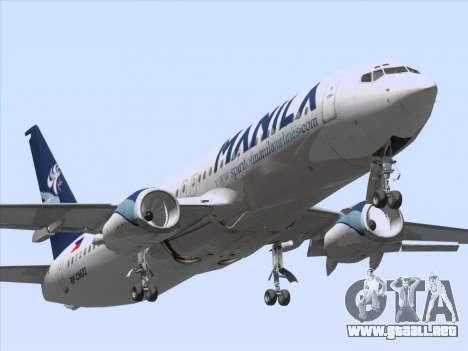 Boeing 737-800 Spirit of Manila Airlines para GTA San Andreas left