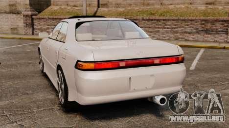 Toyota Mark II 1990 v2 para GTA 4 Vista posterior izquierda