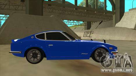 Nissan Wangan Midnight Devil Z S30 para GTA San Andreas vista posterior izquierda