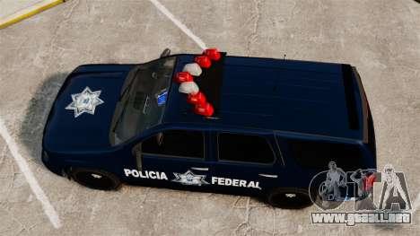 Chevrolet Tahoe 2007 De La Policia Federal [ELS] para GTA 4 visión correcta