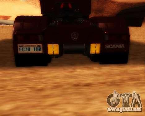 Scania R440 para GTA San Andreas vista posterior izquierda