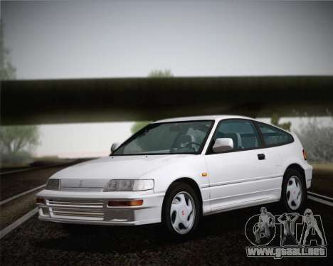 Honda CR-X 1991 para GTA San Andreas vista posterior izquierda