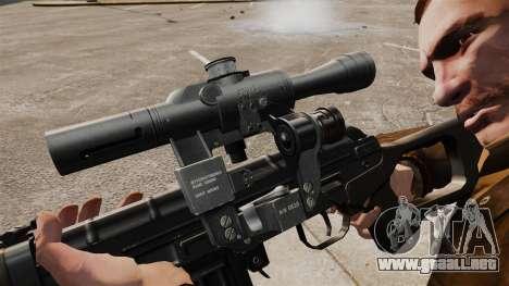 Dragunov sniper rifle v2 para GTA 4 adelante de pantalla