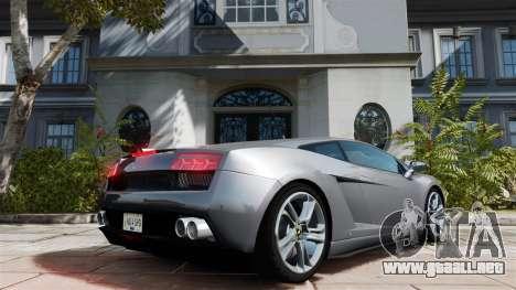 Lamborghini Gallardo LP560-4 [Final] v1 para GTA 4 Vista posterior izquierda