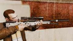 AW L115A1 rifle de francotirador con un silenciador v6 para GTA 4