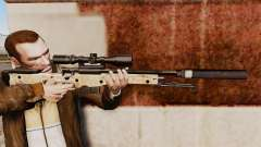 AW L115A1 rifle de francotirador con un silencia