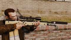 AW L115A1 rifle de francotirador con un silenciador v2 para GTA 4