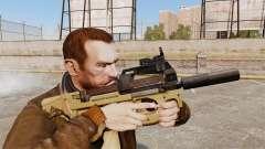 Belga FN P90 subfusil ametrallador v4 para GTA 4