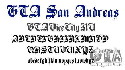 La fuente oficial para el GTA San Andreas para GTA San Andreas