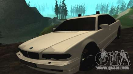 BMW 750iL E38 con luces intermitentes para GTA San Andreas