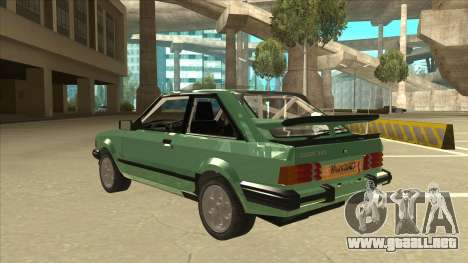 Ford Escort XR3 With Cosworth Spoiler para GTA San Andreas vista hacia atrás